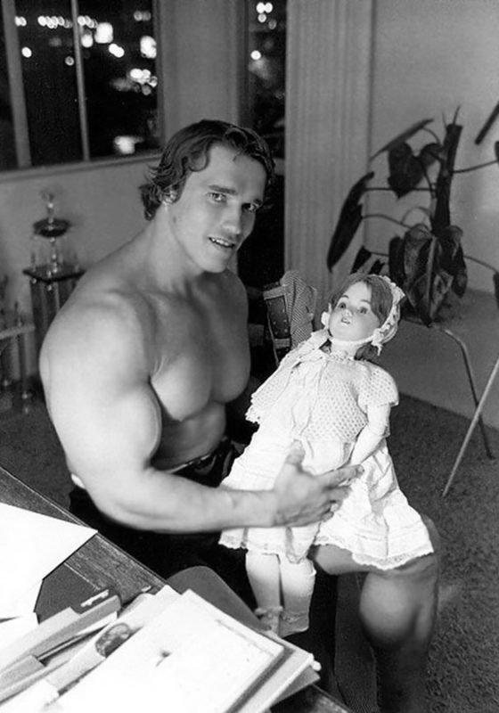 Arnold Schwarzenegger in the 70s