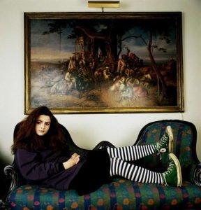20-year-old Helena Bonham Carter in 1986