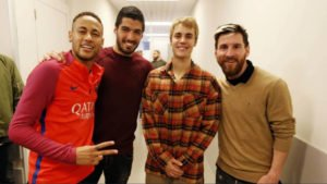 Justin Bieber at FC Barcelona