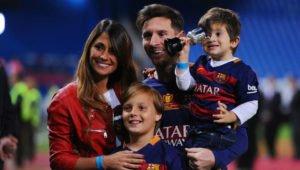 Lionel Messi and Antonella Roccuzzo children