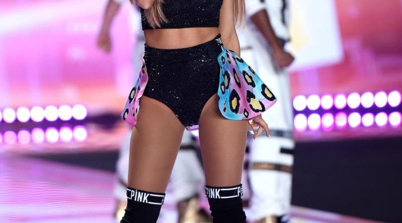 Ariana Grande on Victoria's Secret show in Paris