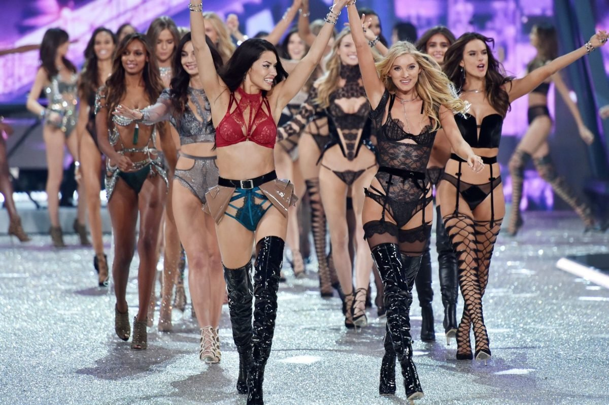 Victoria Secret With Clothes On Fashion Show