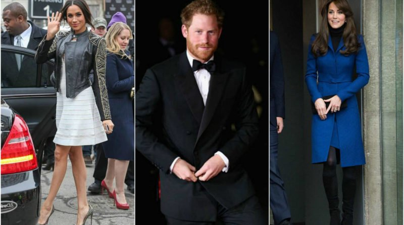 Prince Harry's girlfriend Meghan Markle and Kate Middleton