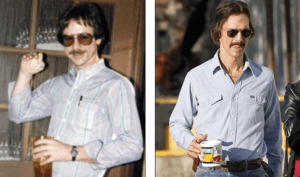 Matthew McConaughey acted as Ron Woodroof in Dallas Buyers Club