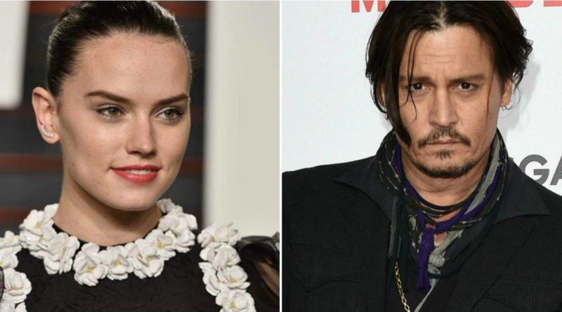 Johnny Depp and Daisy Ridley