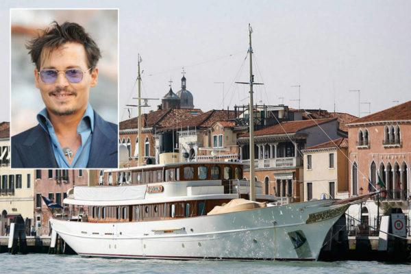 Johnny Depp luxury yacht