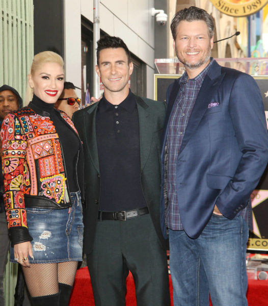 Blake Shelton and his girlfriend Gwen Stefani