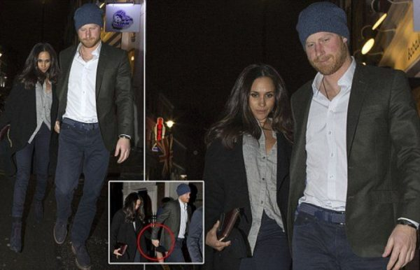 Prince Harry and Meghan Markle photographed holding hands in London