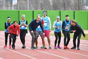 Prince William, Prince Harry and Kate Middleton in a royal race
