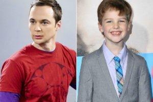 Sheldon Cooper and Iain Armitage
