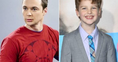 Sheldon Cooper and Iain Armitage