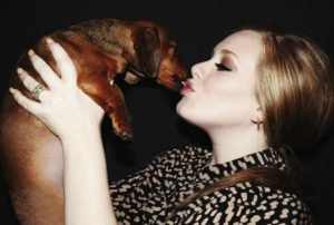 Adele and her beloved dachshund