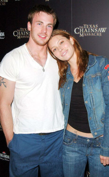 Jessica Biel and Chris Evans