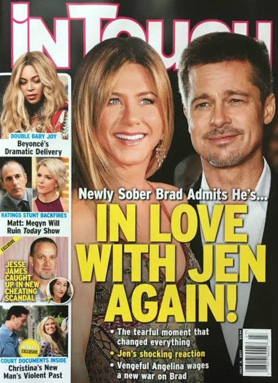 Brad Pitt to Jennifer ...