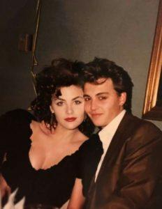 Johnny Depp and Sherilyn Fenn