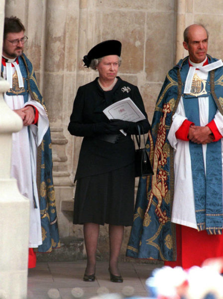 Queen Elizabeth II at Dianas Funeral