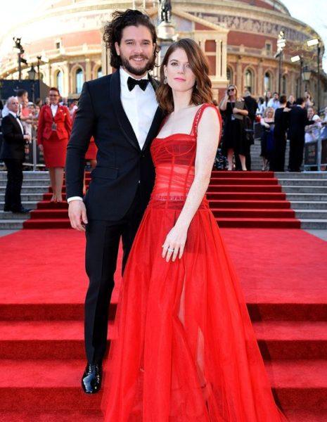 Kit Harington and Rose Leslie April 2017