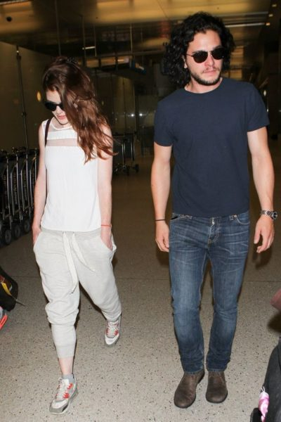 Kit Harington and Rose Leslie August 2013