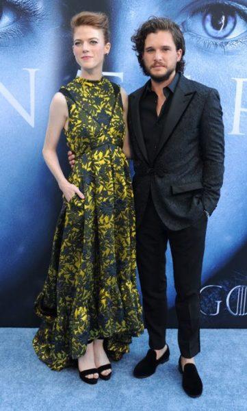 Kit Harington and Rose Leslie July 2017