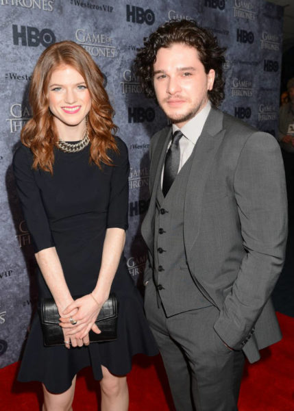 Kit Harington and Rose Leslie March 2013