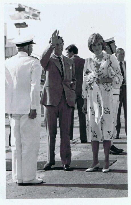 Charles and Princess Diana honeymoon