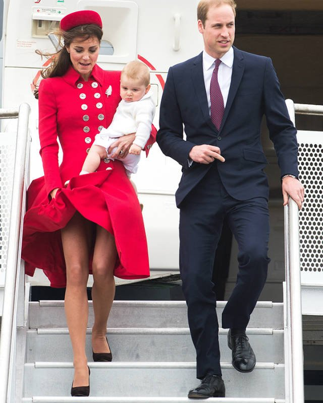 Kate and William traveled to Australia and New Zealand in 2013 with the newborn George