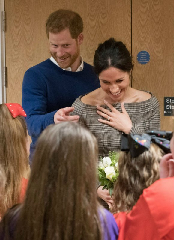 Meghan Markle visited Cardiff on their first official visit to Wales