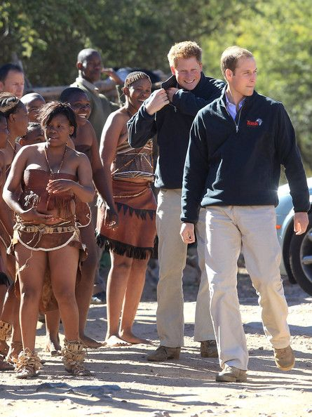 Prince William and Prince Harry in Botswana