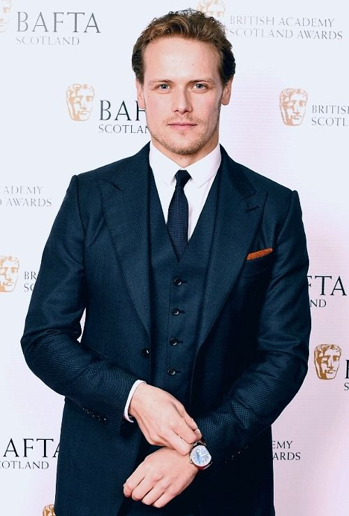 Sam Heughan is a natural blonde
