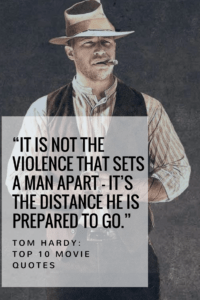 """""""It is not the violence that sets a man apart — it's the distance he is prepared to go."""""""