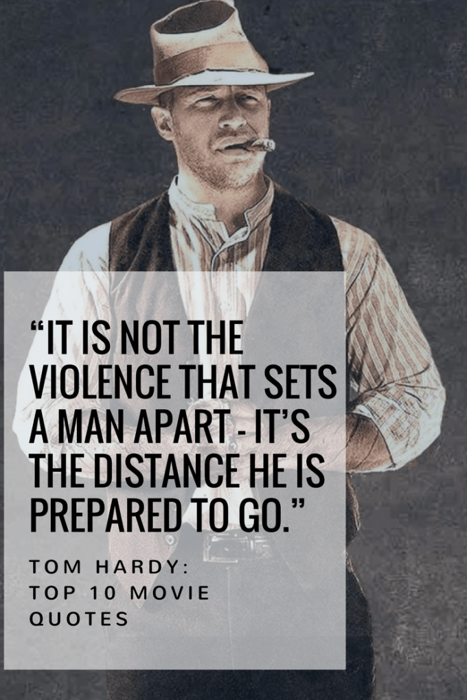 """It is not the violence that sets a man apart — it's the distance he is prepared to go."""