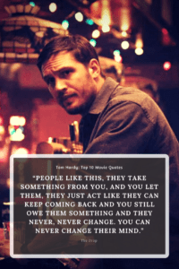 """""""People like this, they take something from you, and you let them, they just act like they can keep coming back and you still owe them something and they never, never change. You can"""
