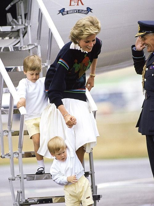 Diana Insisted They Fly With Their Father