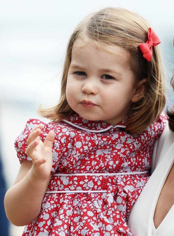 July 17, 2017 Princess Charlotte of Cambridge arriving Warsaw, Poland, for a 5 day tour of Poland and Germany.