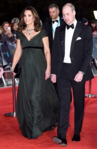 Kate Middleton and Prince William Red Carpet in Deep Green Amid BAFTA's