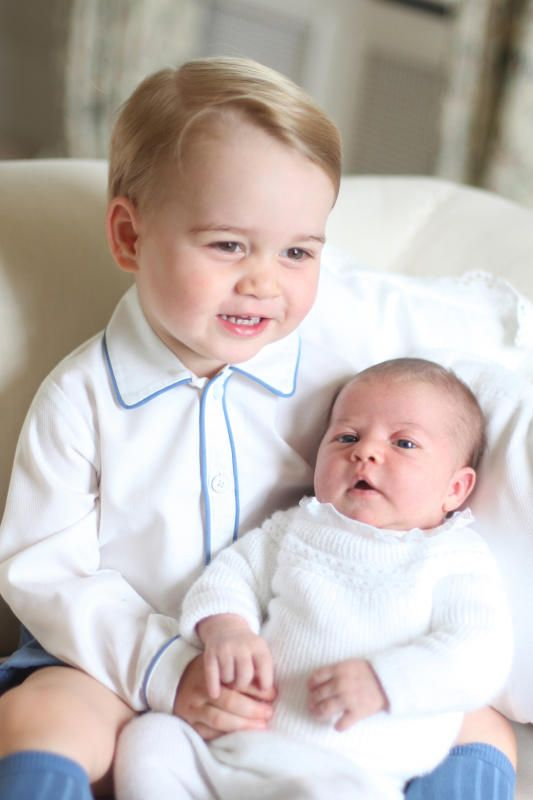 Prince George and Princess Charlotte first official royal portrait