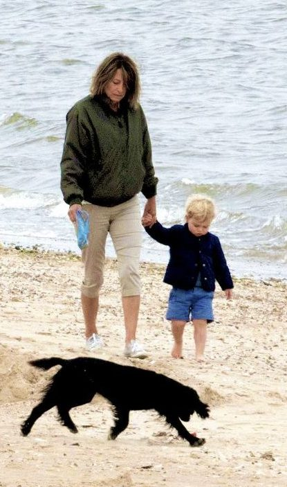 Prince George and his grandmother Carole Middleton