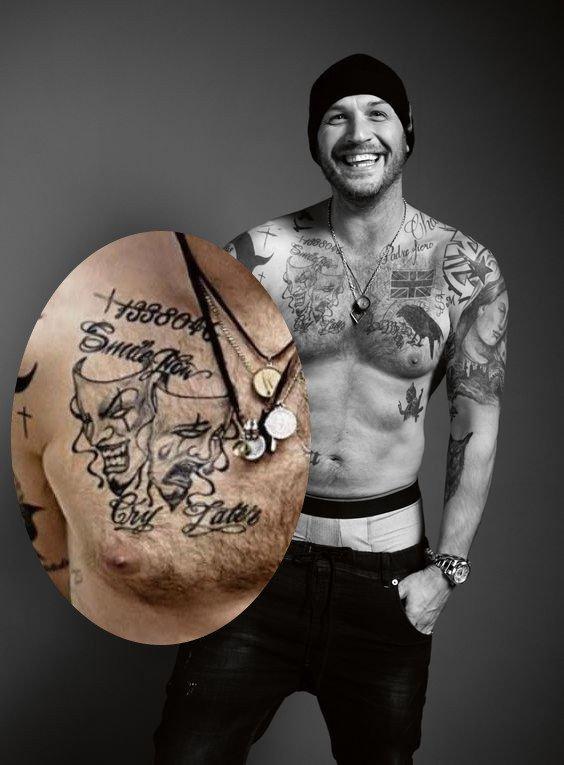Tom Hardy Tattoos