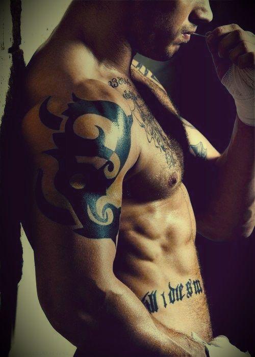 Tom Hardy tattoo 'Till I die SW'