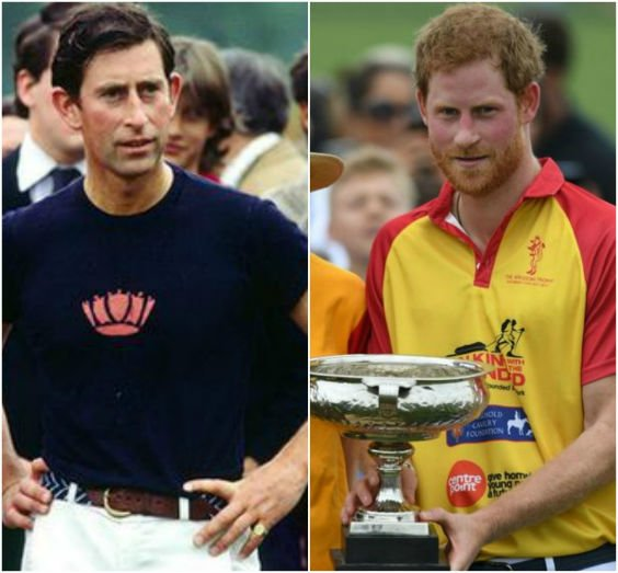 By comparison, here's Prince Charles playing Polo, also in his thirties