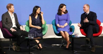 Prince Harry, Meghan Markle, Prince William and Princess Kate have attended their first royal event together.