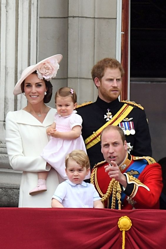 Kate Middleton, Princess Charlotte, Prince George, Prince Harry and Prince William