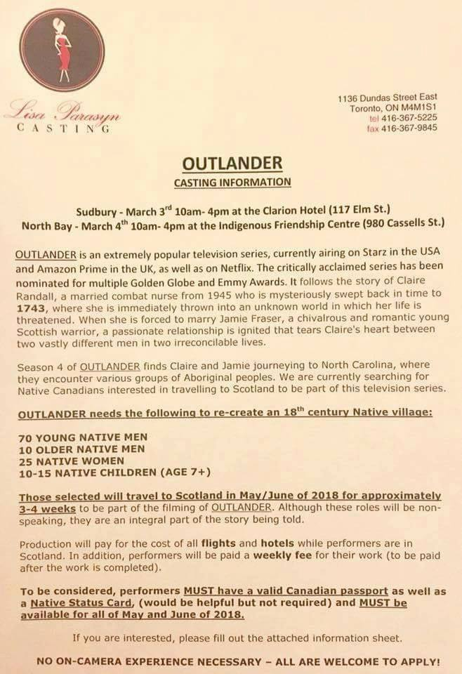 Outlander Is Casting! You Could Be On The Show!
