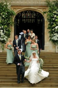 Peter Phillips and his bride, Autumn, another royal couple that married at Windsor Castle.