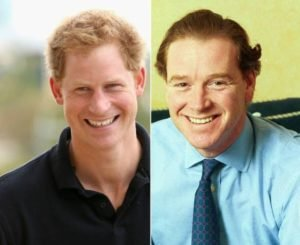 Prince Harry and Hewitt side-by-side sporting very similar facial features