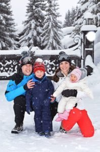Prince William and Kate take George and Charlotte on first family ski holiday
