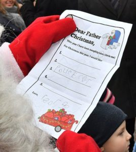 Prince William has given Santa an adorable handwritten letter from his son Prince George
