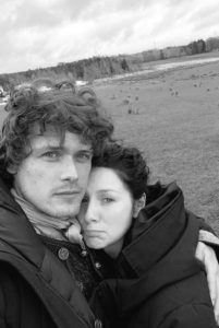 Sam Heughan and Caitriona Balfe