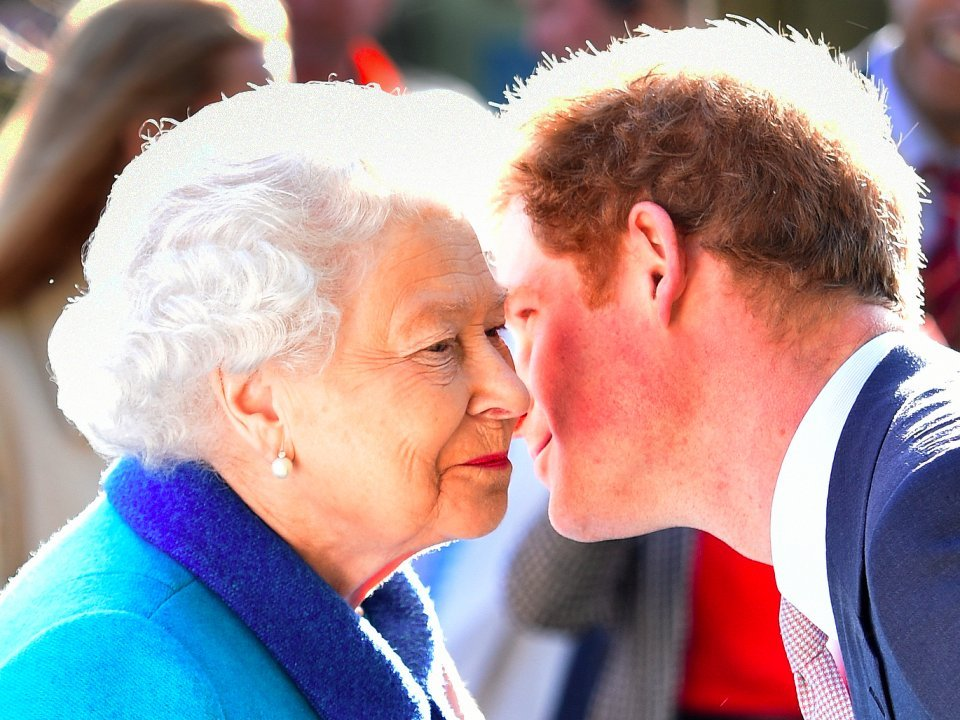 prince harry and the queen elizabeth