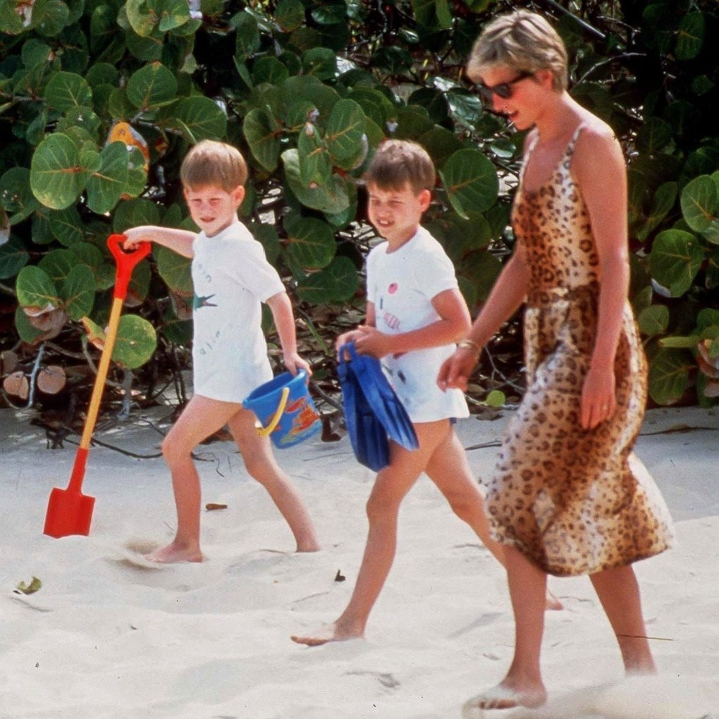 Diana, Harry and william in the Caribbean